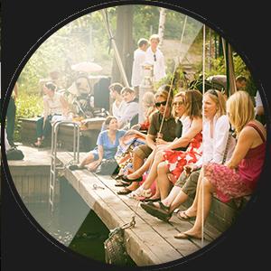 Pålsundets Matsal - Mingel på bryggan en varm sommarkväll