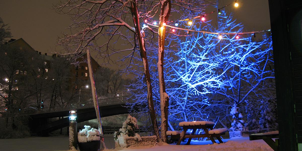Utomhusbelysning - vinterfest
